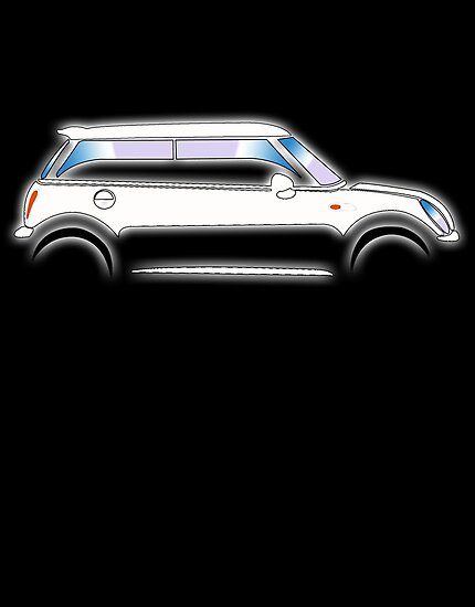 MINI, CAR, WHITE, BMW, BRITISH ICON, MOTORCAR by TOM HILL - Designer