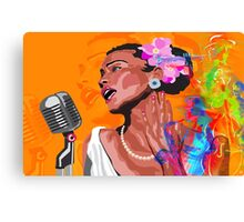 JAZZ SINGER & BAND Canvas Print