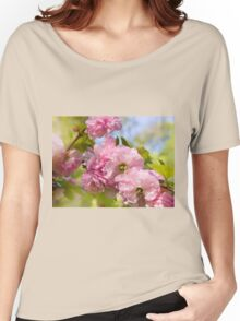 Almond blossoms pink flowering Women's Relaxed Fit T-Shirt