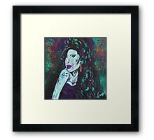 Amy Winehouse - original art by LeahG Framed Print