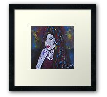 Amy Winehouse - original portrait by LeahG Framed Print