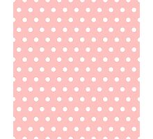 Small White Polka Dots on LightPink background Photographic Print
