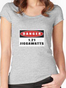 WARNING: 1.21 Jiggawatts! Women's Fitted Scoop T-Shirt
