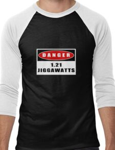 WARNING: 1.21 Jiggawatts! Men's Baseball ¾ T-Shirt