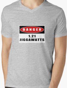 WARNING: 1.21 Jiggawatts! Mens V-Neck T-Shirt