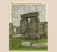 Stonehenge Magic Place Vintage Collage Dictionary Art Unisex T-Shirt