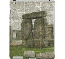 Stonehenge Magic Place Vintage Collage Dictionary Art iPad Case/Skin
