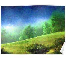 Sunlight across the Valley Poster