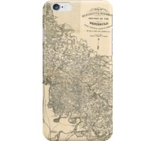 Map of the Vicinity of Richmond Virginia by Jeremy Gilmer (1864) iPhone Case/Skin