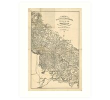 Map of the Vicinity of Richmond Virginia by Jeremy Gilmer (1864) Art Print