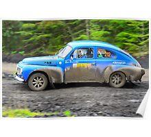 Rallying Volvo PV544 Poster