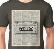 Retro Vintage Music Casette - Dictionary Book Page Art Unisex T-Shirt