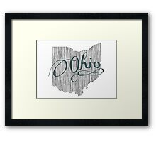 Ohio State Typography Framed Print