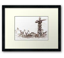 Gdansk Shipyard Framed Print