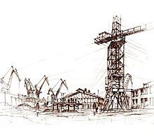 Gdansk Shipyard Photographic Print