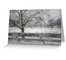 Winter Through the Glass Greeting Card