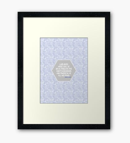 Throne of Glass Libraries Framed Print