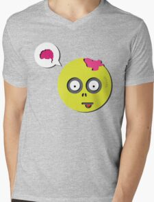 Zombie Thought Mens V-Neck T-Shirt