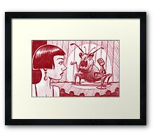 Weevil comic night at the club Framed Print