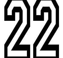 22, TEAM SPORTS, NUMBER 22, TWENTY, TWO, Twenty Second, Competition,  by TOM HILL - Designer