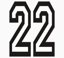 22, TEAM SPORTS, NUMBER 22, TWENTY, TWO, Twenty Second, Competition,  Kids Clothes