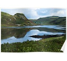 Landscape, Loch Beag, Amar River vally, Isle of Skye, Scotland, Poster