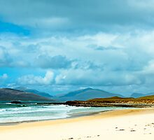 Landscape, Traigh Mhor beach, South Harris, Western Isles, Scotland by Hugh McKean