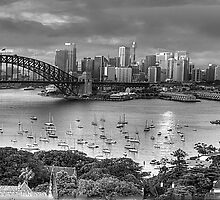 It's All Black and White - Sydney Harbour (20 Exposure HDR Panoramic) - The HDR Experience by Philip Johnson