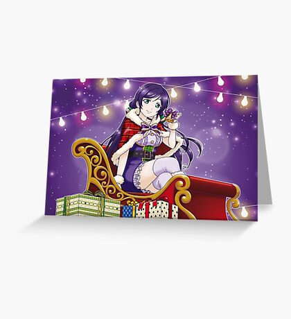 Nozomi Tojo - Love Live! Xmas edit. Greeting Card