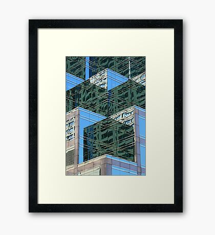 Angled Reflections Framed Print