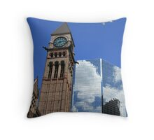 Refected Clouds Throw Pillow