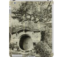The Bag End Hobbit House over Dictionary Page iPad Case/Skin