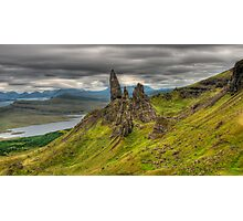 Skye, Old Man of Storr in a cloudy day Photographic Print