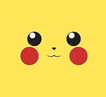 Pika face (high resolution) by gallo177