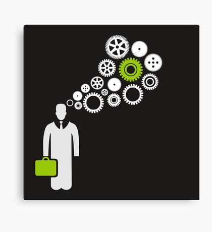 Business the person Canvas Print