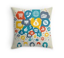 Business the person Throw Pillow