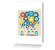 Business the person Greeting Card