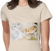 Wedding white flowers  Womens Fitted T-Shirt