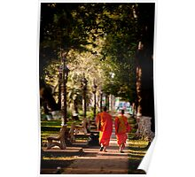Walking to Temple Poster