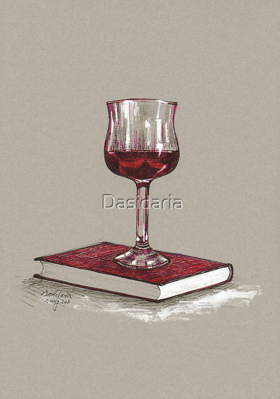 Books and wine - later by Dasidaria Hardcastle