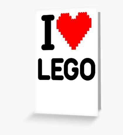 I Love LEGO Greeting Card