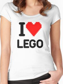 I Love LEGO Women's Fitted Scoop T-Shirt