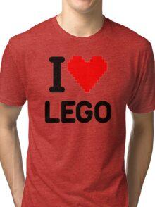 I Love LEGO Tri-blend T-Shirt