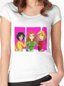 Totally Spies Women's Fitted Scoop T-Shirt