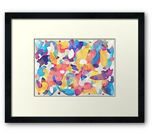 Chaotic Construction Framed Print