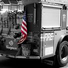 Engine 205 Flying the Flag by SomeGuyInNJ