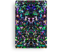 Colourful, groovy psychedelic kaleidoscope Canvas Print
