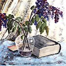 Withered lilac and a book by Dasidaria Hardcastle