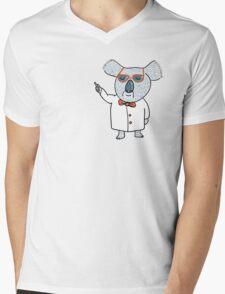 Koala Nerd Mens V-Neck T-Shirt