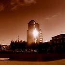 """The Boat"", Belfast (sepia) by Chris Millar"